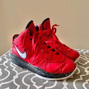 Nike LeBron 4Y red high top sneakers
